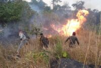 Rangers from Trapeang Rung station cleared heavy forest fire Wildlife Alliance Forest Fire 200x134