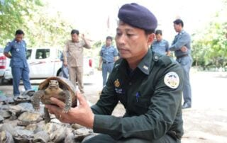Journal of Applied Ecology – Dr. Thomas Gray, the work of Wildlife Rapid Rescue Team (WRRT) Animals Rescued Cambodia Wildlife Police 320x202