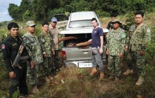 Two ranger units joined forces to stop suspects from illegally transporting 357kg luxury wood Wildlife Alliance Rangers luxury wood 320x202