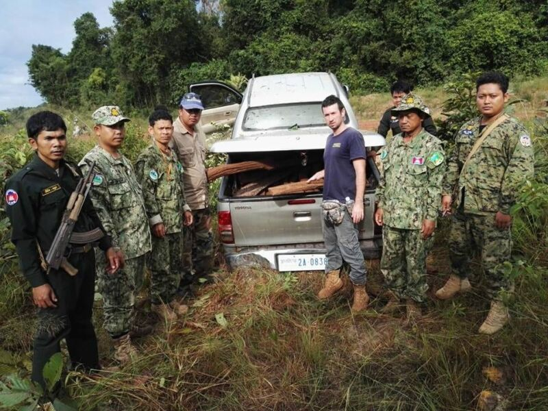 Two ranger units joined forces to stop suspects from illegally transporting 357kg luxury wood Wildlife Alliance Rangers luxury wood 800x600