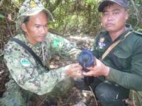 Rangers from Koh Pao Dismantled and Collected 1 km of Bird Netting Rangers Wildlife Alliance save birds from snares 200x150