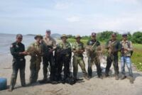 Rangers from Koh Pao Dismantled and Collected 1 km of Bird Netting Wals of deth Wildlife Alliance Rangers 200x134