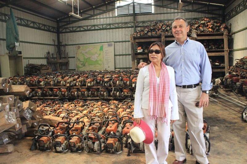 U.S. Ambassador to Cambodia William Heidt Visits Steung Prat Patrol Station Ambassador William Heidt Wildlife Alliance 800x533
