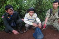 CAP squad arrest. Civet rescued by Wildlife Alliance Rangers GPDS Check Point 200x133