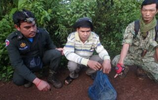 CAP squad arrest. Civet rescued by Wildlife Alliance Rangers GPDS Check Point 320x202