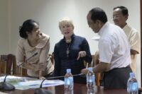 First meeting with new Koh Kong governor, H.E. Mithona Phouthorng Koh Kong governor and Suwanna Gauntlett 200x133