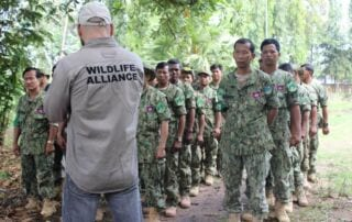 Ranger Training session in Kampong Thom by Wildlife Alliance Ranger training by Wildlife Alliance phisical training Edduard Lefter 320x202