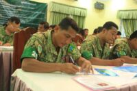 Ranger Training session in Kampong Thom by Wildlife Alliance Ranger training by Wildlife Alliance writtnen text 200x133
