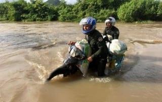 september - long patrol in the heart of cardamom rainforestlandscape September – Long patrol in the heart of Cardamom RainforestLandscape River Crossing Cambodia Rangers 320x202
