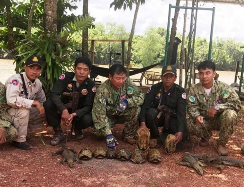 Check point by Sre Ambel Wildlife Alliance Rangers