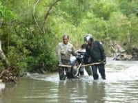 wildlife alliance rangers fighting loggers in cambodia Wildlife Alliance Rangers fighting loggers in Cambodia river crossing 200x150