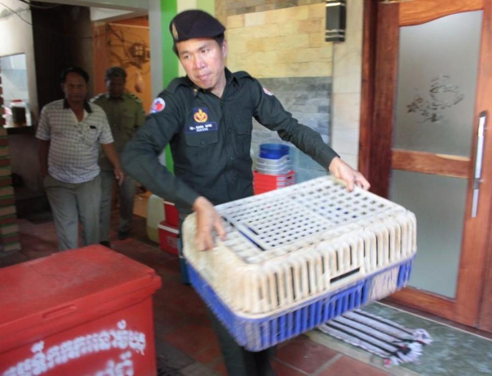 Wildlife seized from restaurant in Pursat raid. WRRT Update
