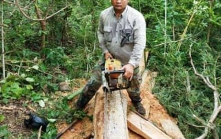 chambak patrol station - 2 chainsaws Chambak Patrol Station – 2 chainsaws Cardamom Protection illegal Chainsaw 320x202