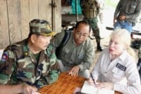Suwanna Gauntlett meets with General Chhun Chheng Suwanna Gauntlett meets with General Chhun Chheng Suwanna Gauntlett and General Chhun Chheng meeting 200x134