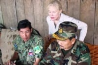 Suwanna Gauntlett meets with General Chhun Chheng Suwanna Gauntlett meets with General Chhun Chheng forest restoration Suwanna Gauntlett Bokor 200x133