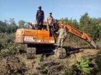 excavator seized in protected forest Excavator seized in protected forest Forest Clearing Cambodia 200x150