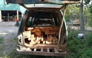 car transporting construction timber Car transporting construction timber Illegal timber transportation 320x202
