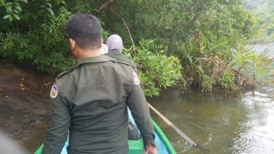 hunter camp Hunter camp deep in the Cardamom Rainforest Landscape Forest Rangers on river 400x225