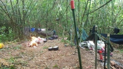 hunter camp Hunter camp deep in the Cardamom Rainforest Landscape Hunter camp Cambodia 400x225