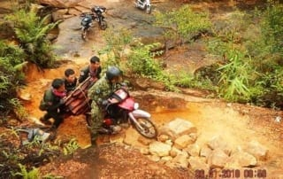 forest guards Hundreds of animal traps, 2 motorbikes confiscated for rose wood transportation Long patrol on motorbyke Cambodia Rangers 320x202