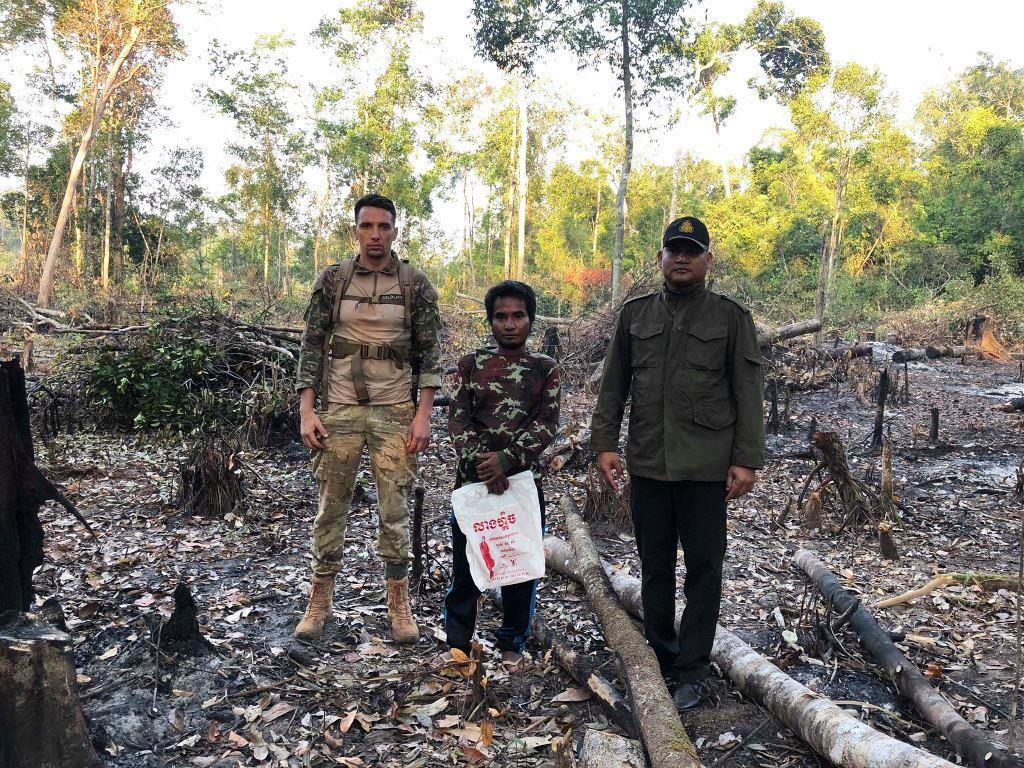 person detained One person detained for clearing state forest Land Encrochement Cambodia