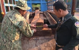 luxury timber Luxury timber seized by Sre Ambel Rangers MoE confiscated luxury timber 320x202
