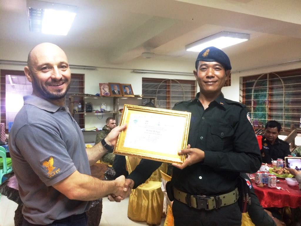 law enforcement SCFPP – Law Enforcement Manager recognized the dedicated senior rangers with tenure of over 13 years senior rangers Cambodia Law Enforcement 12