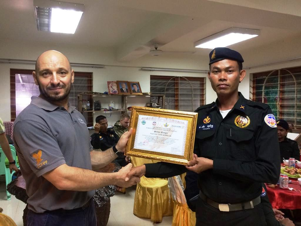 law enforcement SCFPP – Law Enforcement Manager recognized the dedicated senior rangers with tenure of over 13 years senior rangers Cambodia Law Enforcement 14