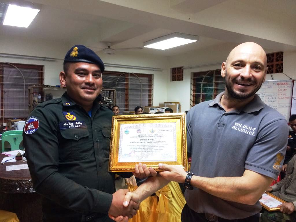 law enforcement SCFPP – Law Enforcement Manager recognized the dedicated senior rangers with tenure of over 13 years senior rangers Cambodia Law Enforcement 16