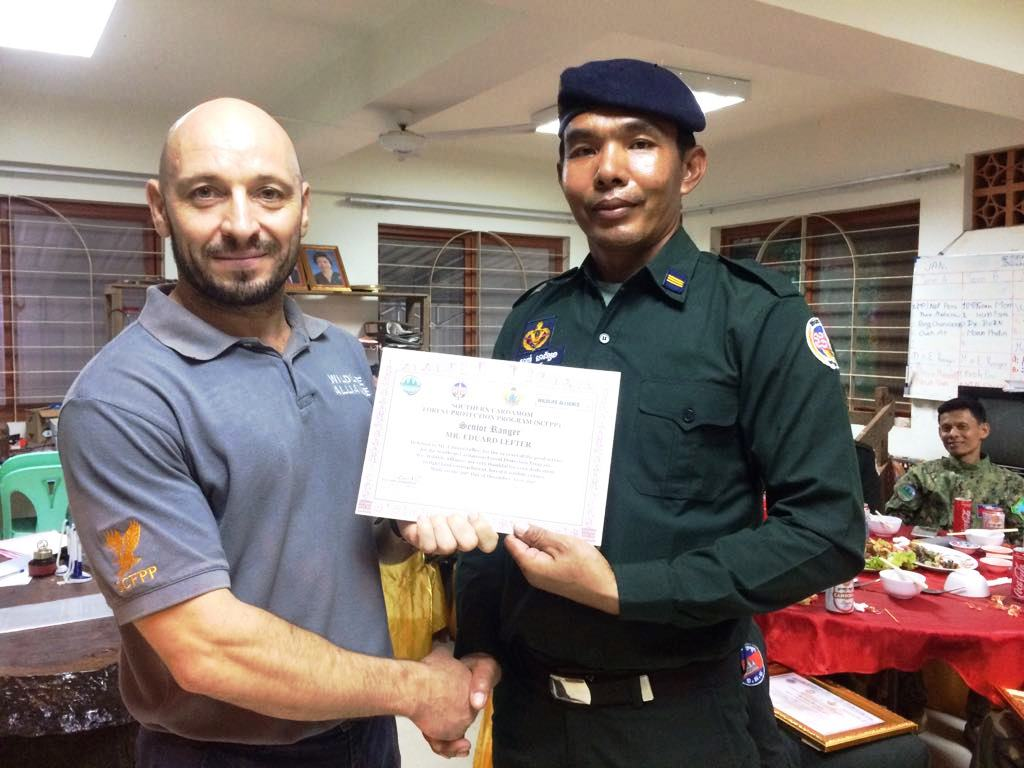 law enforcement SCFPP – Law Enforcement Manager recognized the dedicated senior rangers with tenure of over 13 years senior rangers Cambodia Law Enforcement 17