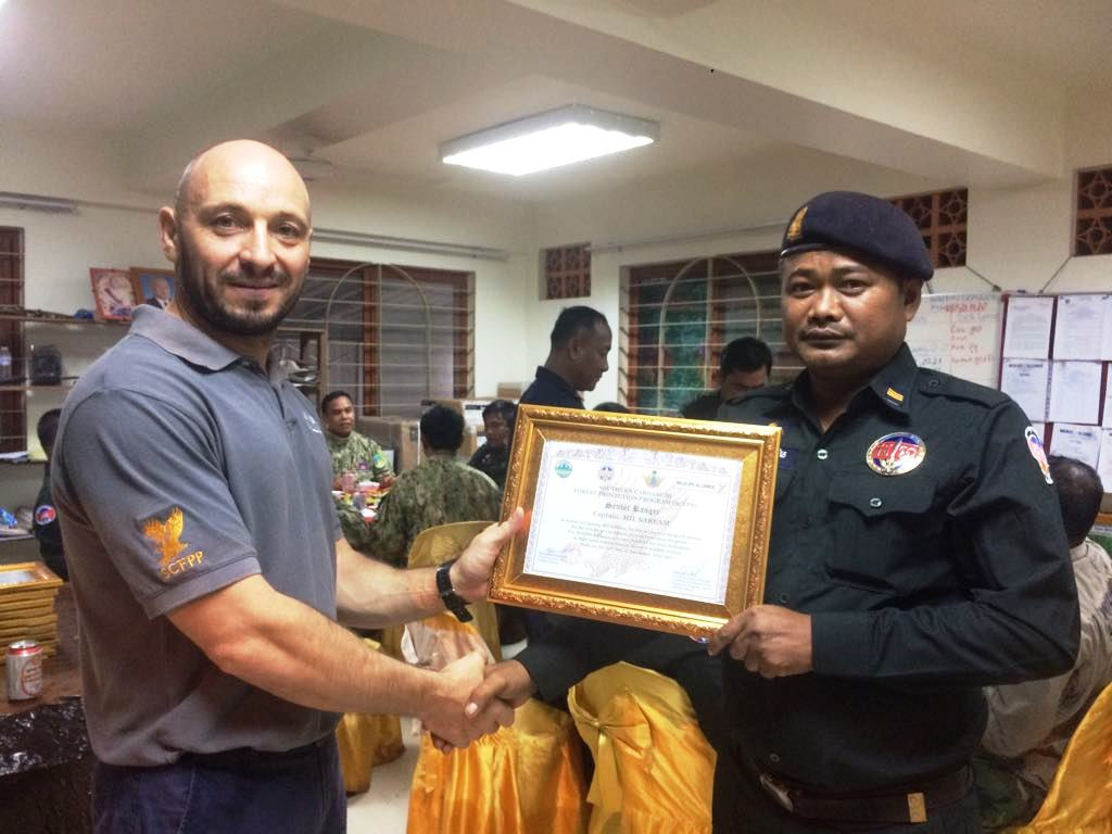 law enforcement SCFPP – Law Enforcement Manager recognized the dedicated senior rangers with tenure of over 13 years senior rangers Cambodia Law Enforcement 23