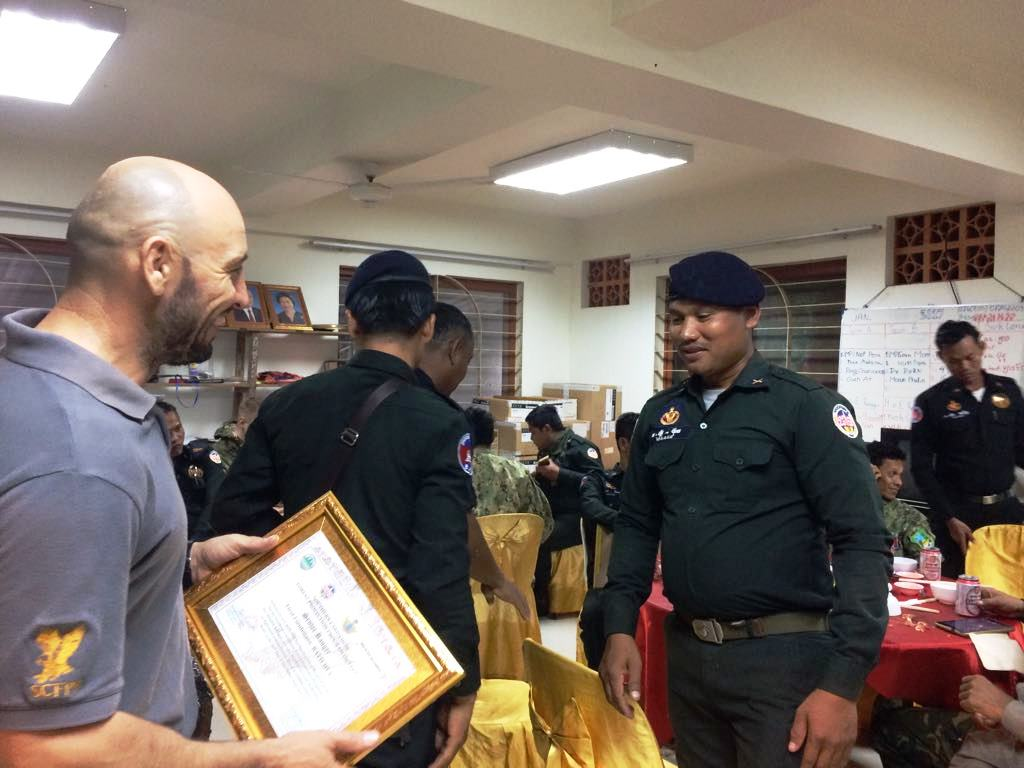 law enforcement SCFPP – Law Enforcement Manager recognized the dedicated senior rangers with tenure of over 13 years senior rangers Cambodia Law Enforcement 5