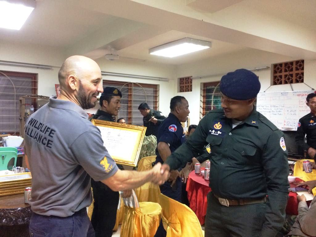 law enforcement SCFPP – Law Enforcement Manager recognized the dedicated senior rangers with tenure of over 13 years senior rangers Cambodia Law Enforcement 6