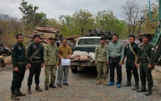 Hunters of Endangered Banteng Caught in the Night 2018
