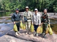 the rangers stopped a car transporting 57 turtles The rangers stopped a car transporting 57 turtles RAngers release turtles into the water 200x150