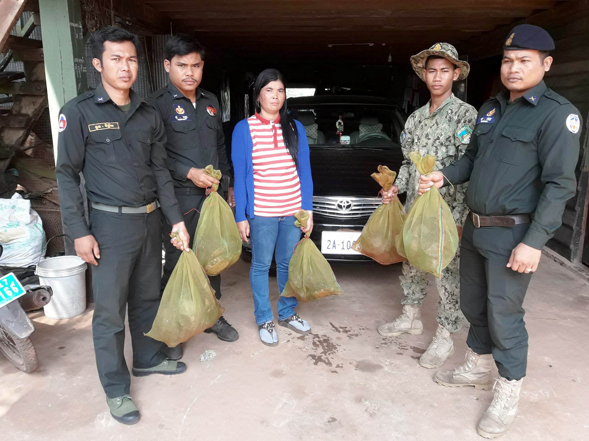 the rangers stopped a car transporting 57 turtles The rangers stopped a car transporting 57 turtles offender arrested for wildlife trade