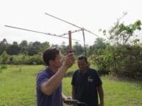 wildlife release Help us Buy Radio Collars to Release Rescued Wildlife in Cambodia WRS keepers tracking released binturongs 200x150