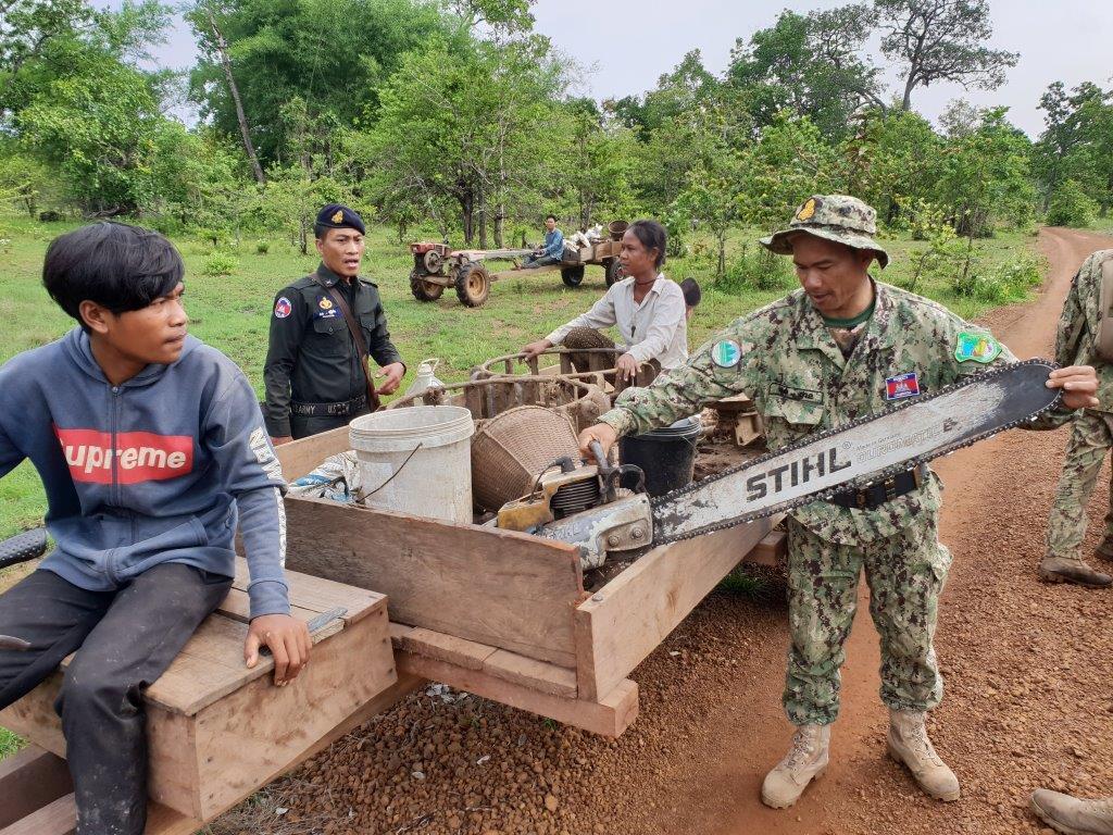 phnom tnout wildlife sanctuary wildlife alliance intervention updates Phnom Tnout Wildlife Sanctuary Wildlife Alliance intervention UPDATES May 12 2018 Phnom Tnout Wildlife Sanctuary illegal chainsaw 5