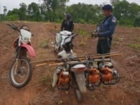 Phnom Tnout Wildlife Sanctuary Wildlife Alliance intervention UPDATES May 13 2018 Phnom Tnout Wildlife Sanctuary illegal chainsaws 6 200x151