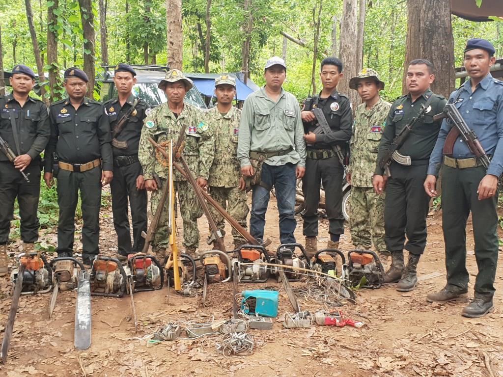phnom tnout wildlife sanctuary wildlife alliance intervention updates Phnom Tnout Wildlife Sanctuary Wildlife Alliance intervention UPDATES May 13 2018 Phnom Tnout Wildlife Sanctuary illegal chainsaws 8