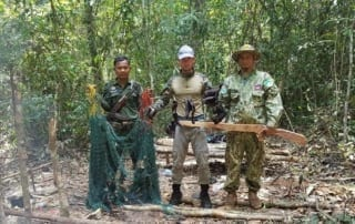 the rangers found four hunting camps The rangers found four hunting camps hunting gun in cambodia 320x202