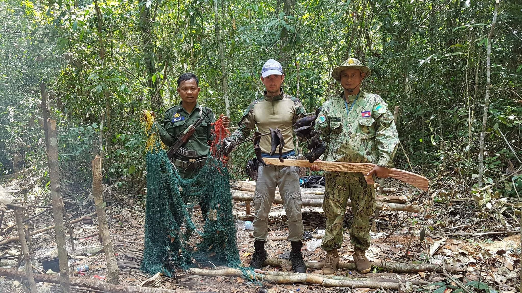 the rangers found four hunting camps The rangers found four hunting camps hunting gun in cambodia