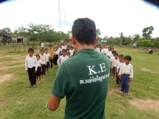 Kouprey Express spreads awareness about the devastating effects of snares KE outdoor lesson