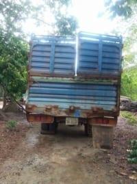 the rangers ambushed a truck transporting illegal timber The rangers ambushed a truck transporting illegal timber Truck involved in illegal timber transportation 200x269