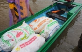 conservation Conservation Turned to Relief Efforts Rice for villagers durring floods 320x202
