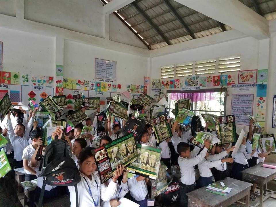 Wildlife Alliance's Mobile Environmental Educator in Phnom Prek Kouprey Express Team in Phnom Prek 5