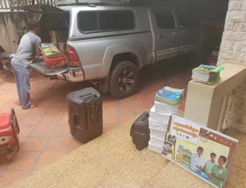 School supplies for 730 kids in Battambang
