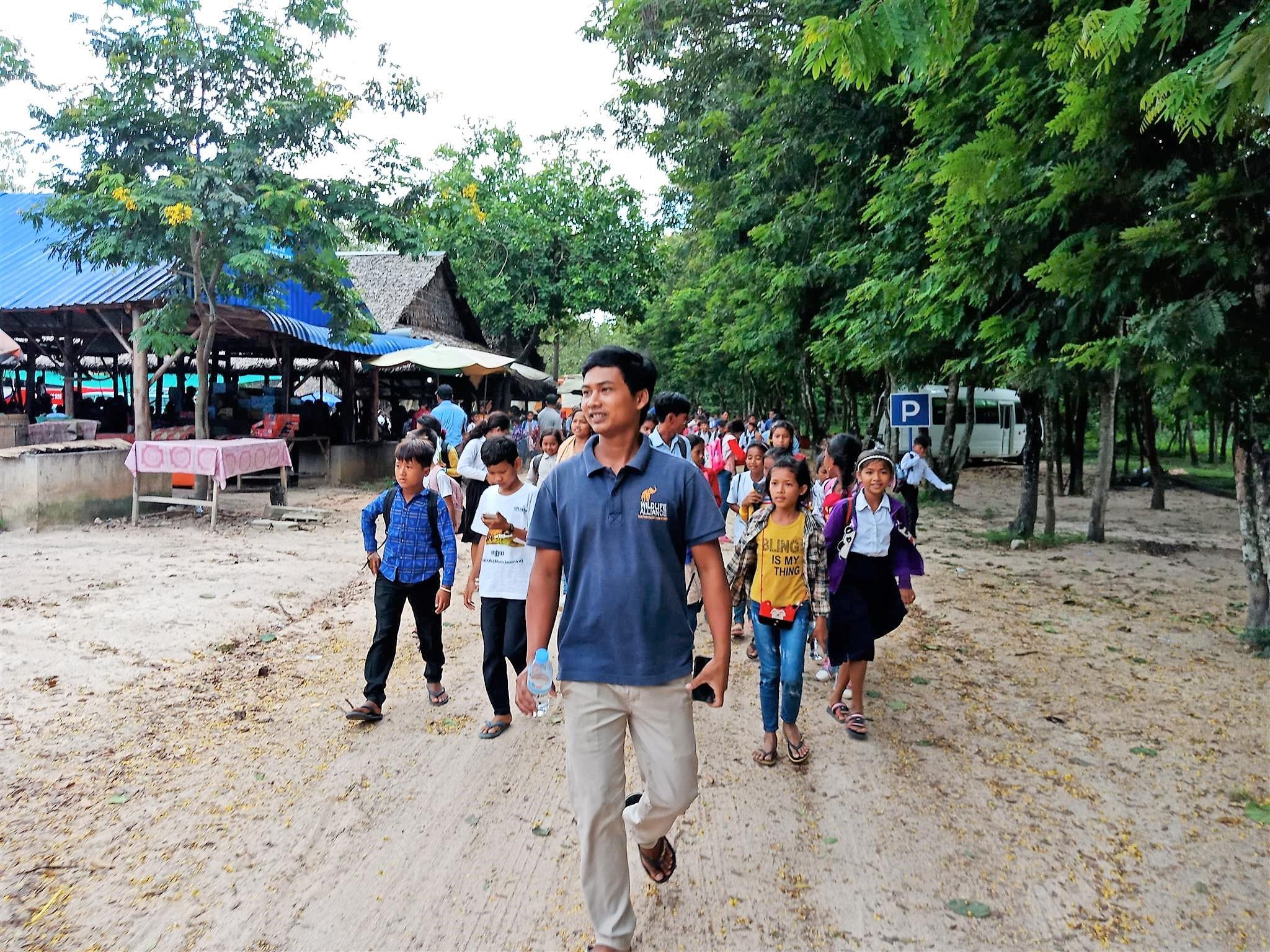 raised awareness Raising awareness of wildlife and habitat protection Cambodia wildlife and habitat protection schools