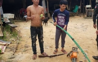 Poaching and logging crackdown inside Cardamom National Park protected area Offender arrested in Koh Kong for poaching and logging 320x202