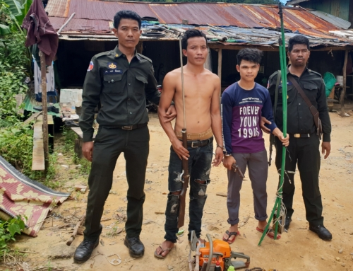 Poaching and logging crackdown inside Cardamom National Park protected area